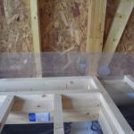 暖房器を埋め込む部分の下地組です。